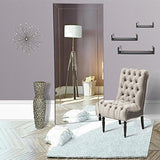 Family Deals Naomi Home Mirrored Bevel Floor Mirror
