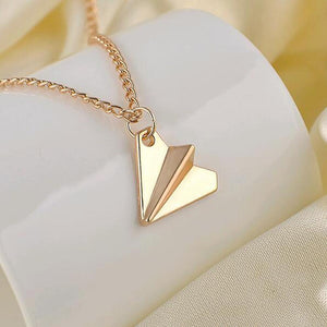 Family Deals Necklace Harry Styles Gold or Silver Paper Airplane Pendant Necklace