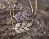 Family Deals Necklace Natural Beauty - Silver or Gold Olive Branch Necklace