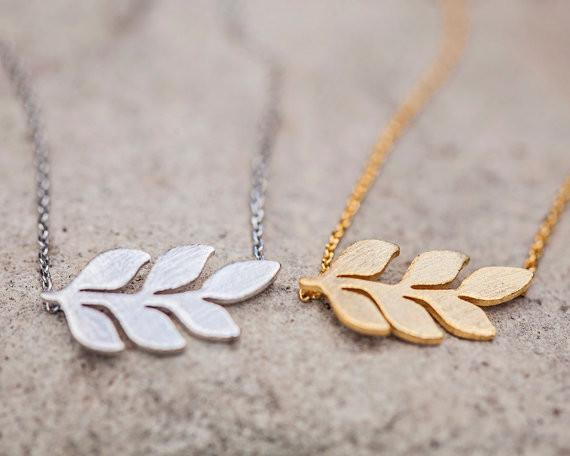 145da8c44 ... Family Deals Necklace Natural Beauty - Silver or Gold Olive Branch  Necklace ...