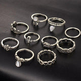 Family Deals Ring VINTAGE BOHO 10-PIECE STACKING RING SET