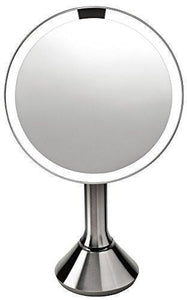 Family Deals simplehuman 8 Inch Sensor Mirror, Lighted Makeup Vanity Mirror, 5x Magnification