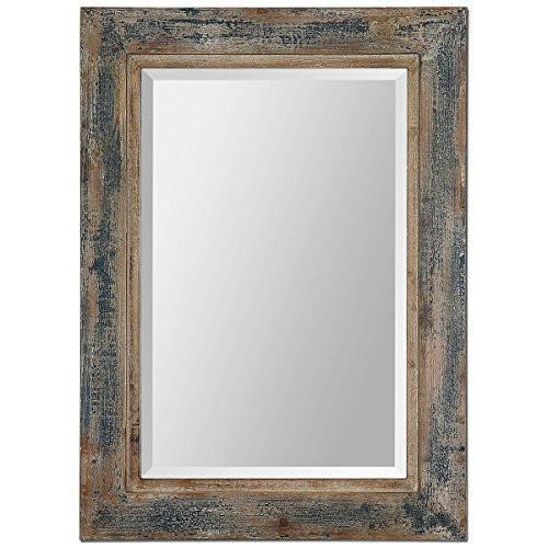 Family Deals Uttermost 13829 Bozeman Distressed Mirror, Blue