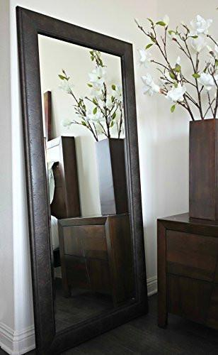 Family Deals West Frames Marcello Full Floor Rustic Dark Charcoal Brown Mirror