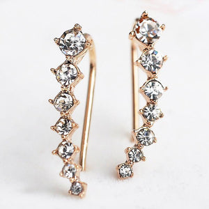 Gold or Silver 14k Elegant Crystal Earrings