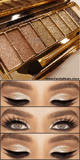 """Golden Eye"" Glitter Eyeshadow Palette Set"