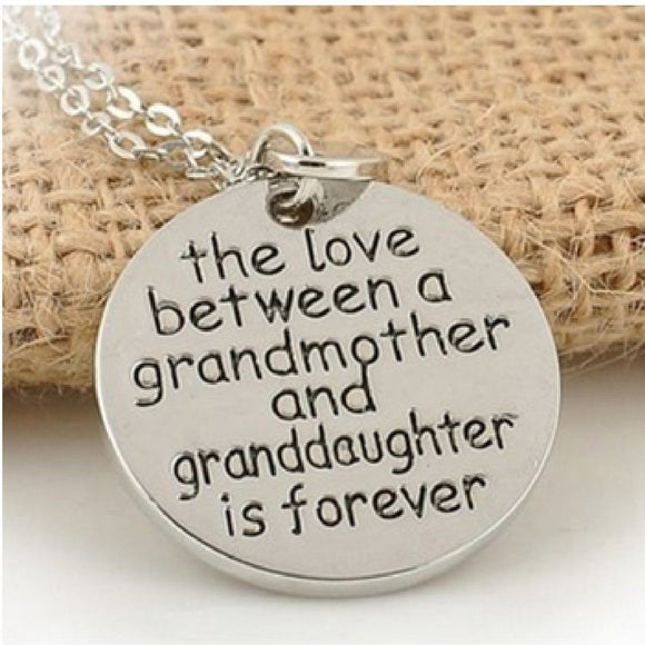 FamilyDeals Necklace Grandmother and Grandaughter Love Necklace