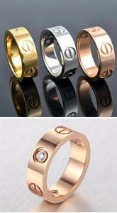 FamilyDeals Ring 18k gold, rose gold or silver screw ring