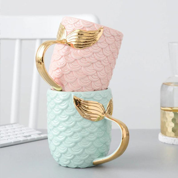 VSCO Mermaid Golden Tail Coffee Mug