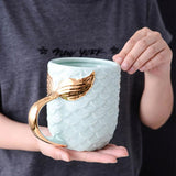 Mermaid Golden Tail Coffee Mug