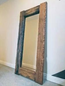 Distressed Rustic handmade Full length Reclaimed Wood Floor Mirror