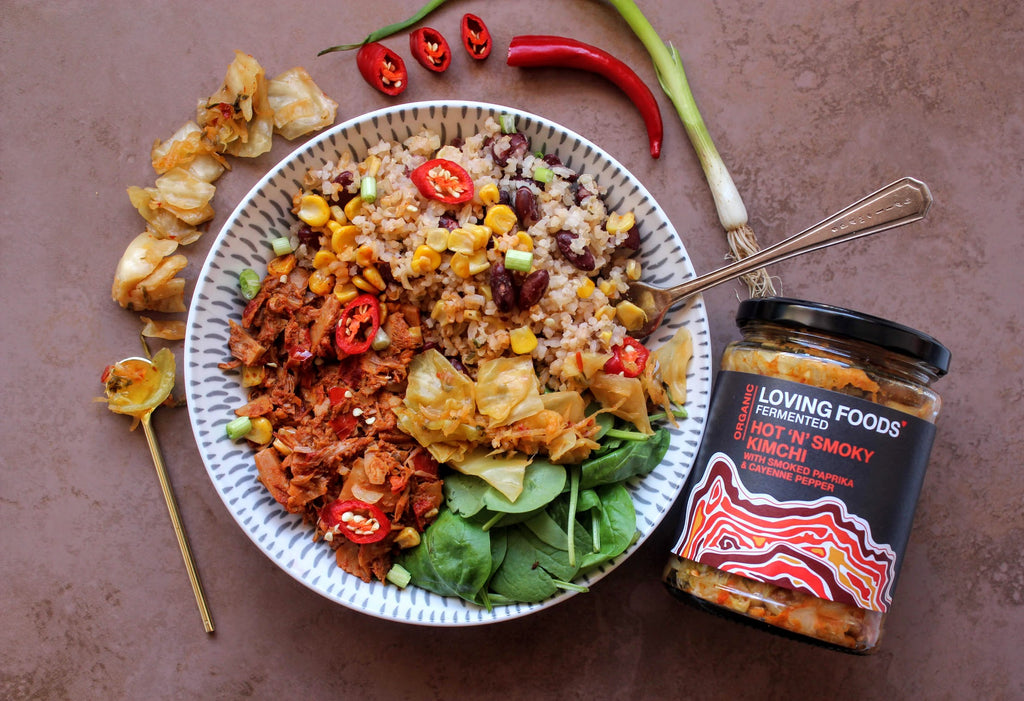 Spicy Pulled Jackfruit Naked Burrito Bowl