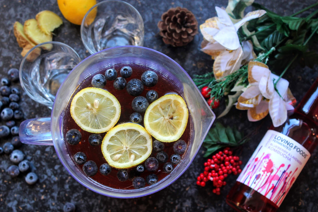Spiced Apple & Blueberry Punch