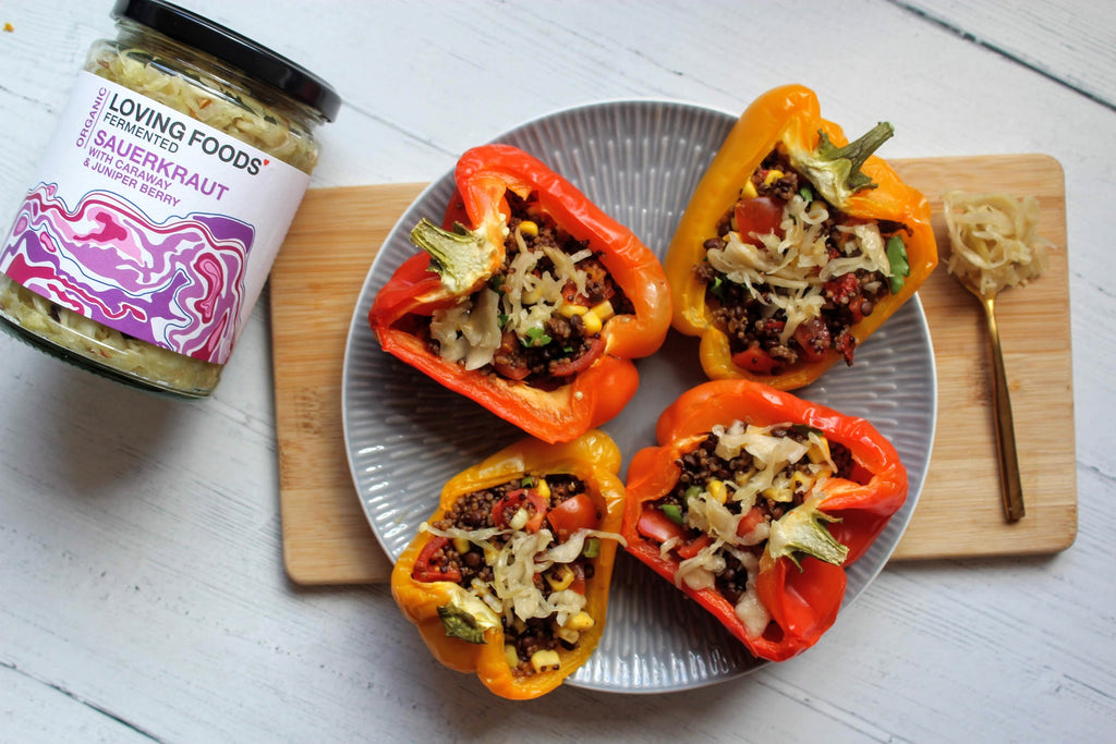 Lentil Quinoa Stuffed Peppers