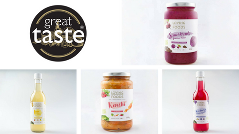 Loving Foods Enters Great Taste Awards 2018 - Cultured Vegetables and Drinks