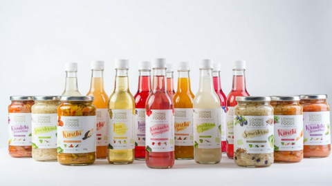 Loving Foods Product Range Using Entirely Glass Packaging