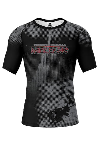 Rash guard - Black - Ragnarok - Short Sleeve