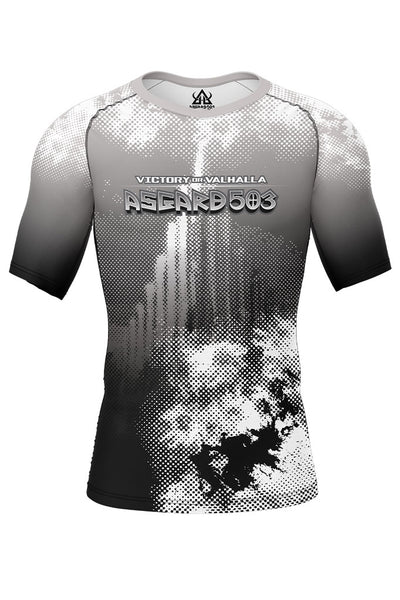 Rash guard - White - Ragnarok - Short Sleeve