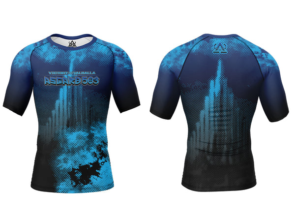 Rash guard - Blue - Ragnarok - Short Sleeve