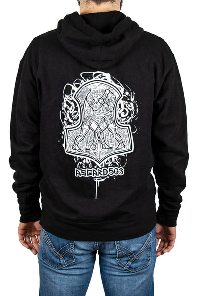Hoodie Pullover - Grappling Vikings - Black