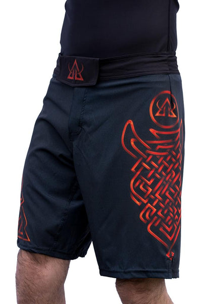 Asgard503 fitness shorts mma Jiujistu red