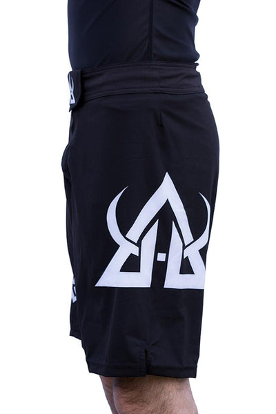 mma shorts black asgard503 training