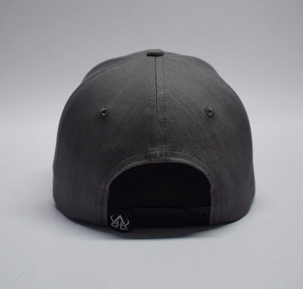 Denim Snapback Hat - White Patch