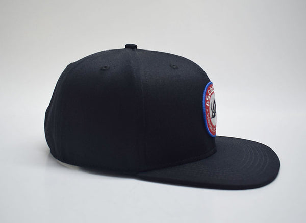 Asgard503 - Black Flat bill - Red White & Blue Patch