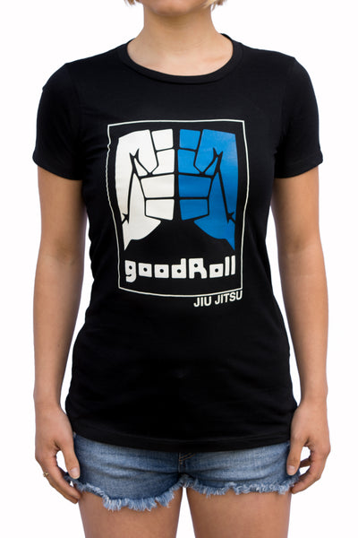 Womens - Good Roll - Jiu Jitsu- Black - T-Shirt
