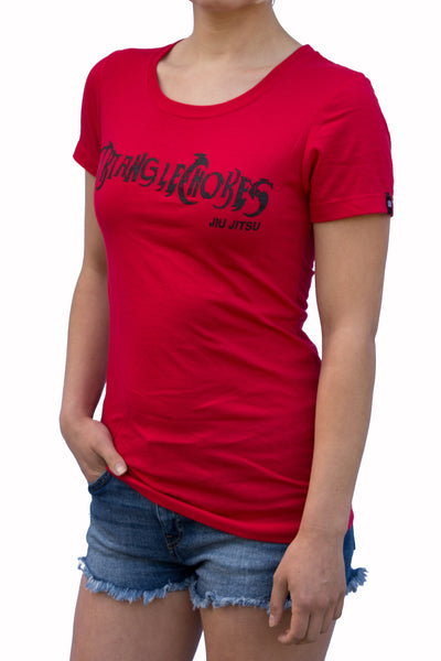 Womens - Triangle Choke - Jiu Jitsu - Red - T-Shirt