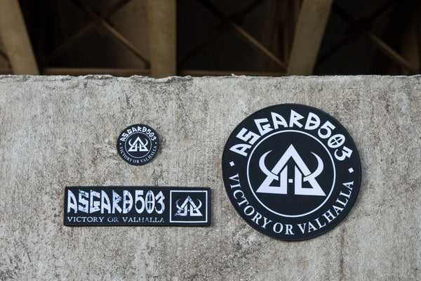 "Victory or Valhalla - Asgard503 - Gi Patch - 3"" round"