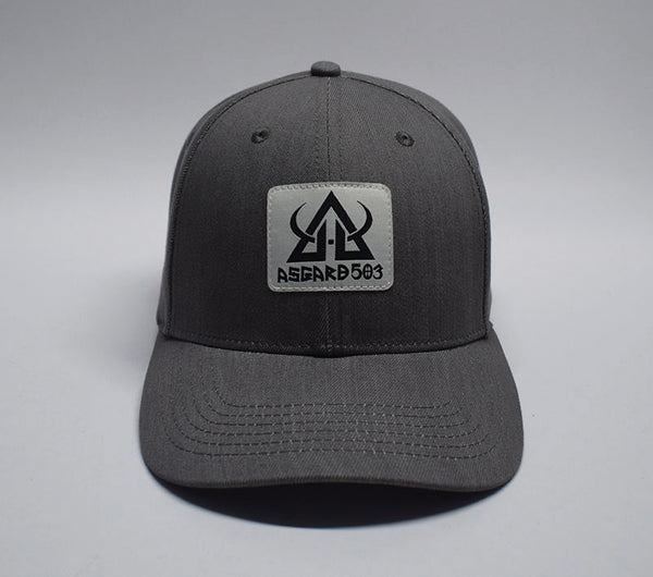asgard503 snapback grey denim patch hat