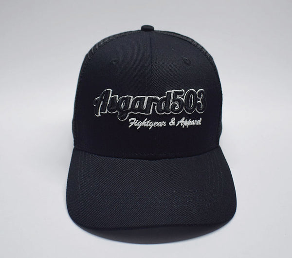 Balck Asgard503 Trucker hat Meshback fightgear and apparel