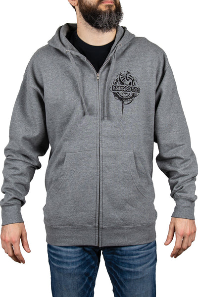 Hoodie Zip - Grappling Vikings - Grey