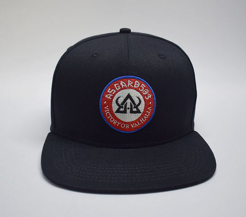 asgard503 flatbill snapback hat victory or valhalla norse
