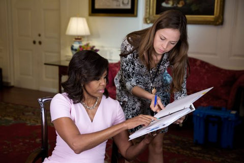 Michelle Obama working