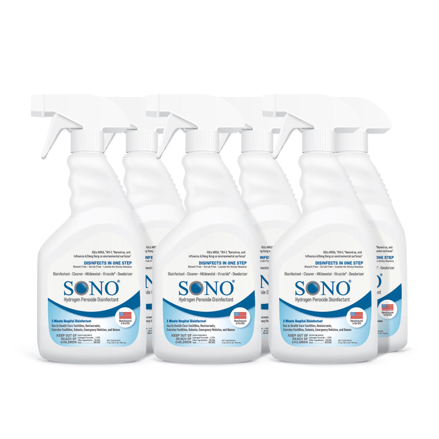 6 Pack - Hydrogen Peroxide Disinfecting Spray