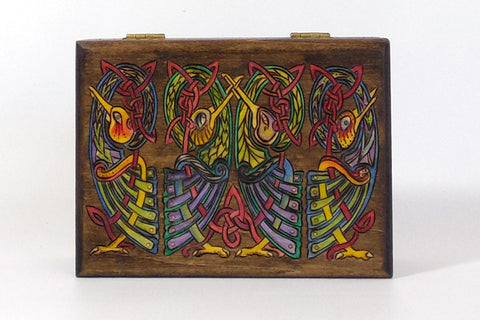 "Card Box ""Dark Birds"" w/ Playing Cards"