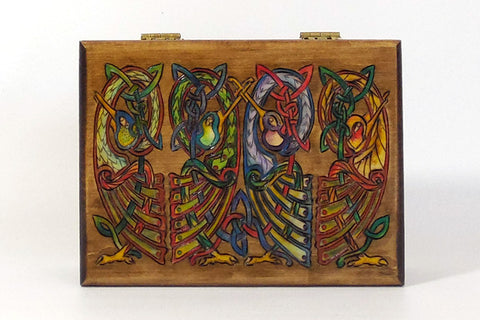 "Card Box ""Light Birds"" w/ Playing Cards"