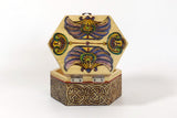 "Hexagon Box ""Art Deco Purple"""