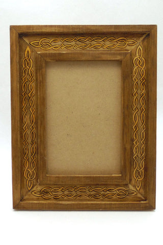 "5"" x 7"" Frame ""Celtic Knot Brown"""