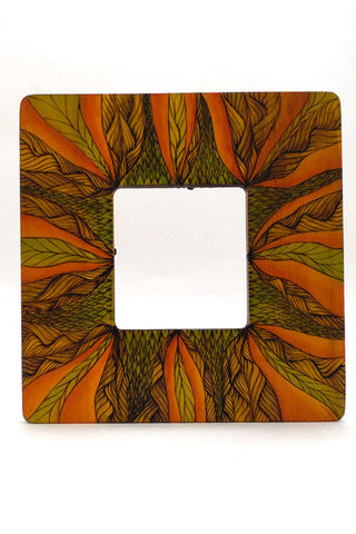 "3.5"" x 3.75"" Frame ""Orange Jungle"""