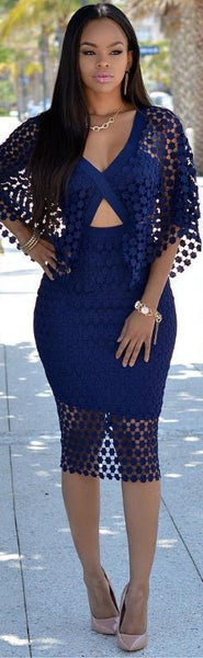 V-neck bodycon party dresses - Chic128