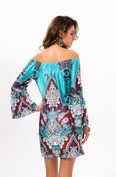 Fashion Bohemian Print Beach Dress - Chic128