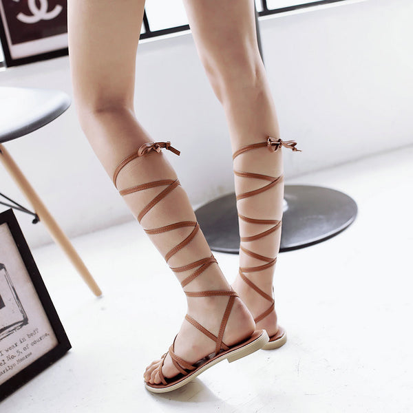 Knee High Women Sandals - Chic128