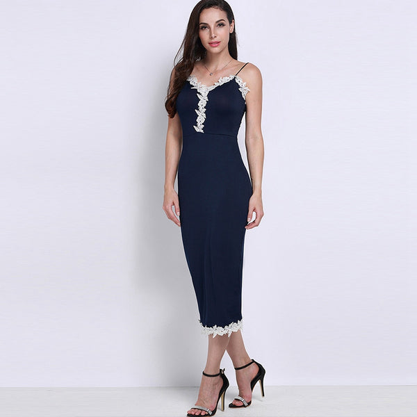 Sexy Women Plunge V-neck Sleeveless Dress - Chic128