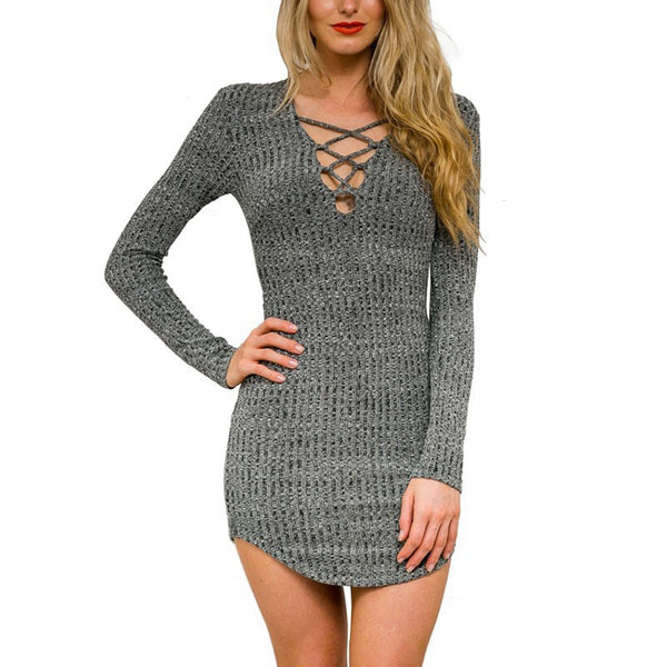 Spring Knitted Dress - Chic128