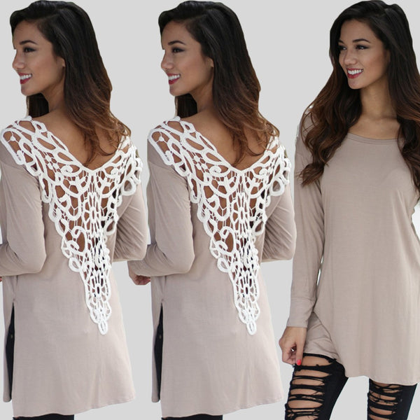 Sexy V-back Backless Lace Tops - Chic128