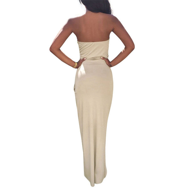 Sexy Irregular Backless Bodycon Maxi Dress - Chic128