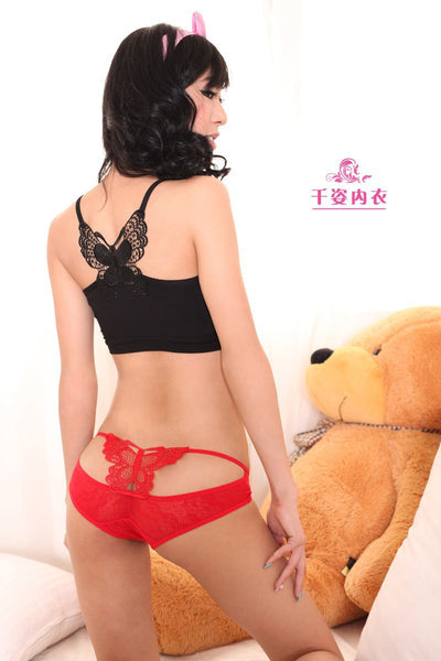 Sexy briefs lace Butterfly erotic underwear
